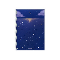 Sổ Lò Xo (19) F (Moon Light) - Morning Glory 80661 - Màu Xanh