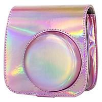 Bao Da Bảo Vệ Máy Chụp Ảnh Lấy Liền Instax Mini 9 / Mini 8 - Holo Pink