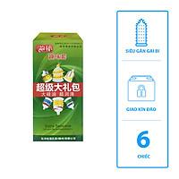 Bao cao su RunBo ( Hong Kong ) - siêu gân gai bi xung quanh bao ( 6 chiếc )