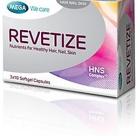 Viên uống hỗ trợ mọc tóc và giảm rụng tóc Revetize (hộp 30 viên nang mềm)