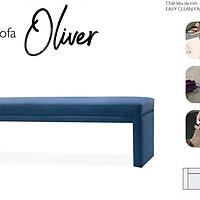 Ghế đôn dài  Oliver 1.5m Easy-Clean Navy Jang In 1701700001-02