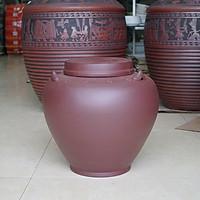 Chum sành ngâm rượu dáng cổ 20L gốm sứ Bát Tràng (bình rượu, bình ngâm rượu, chum ngâm rượu)