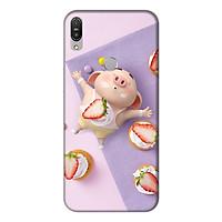 Ốp lưng điện thoại Asus Zenfone Max Pro M1 hình Heo Con Ăn Dâu
