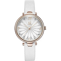 Đồng hồ nữ chính hãng Shengke Korea K8047L-03 Trắng