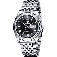 WWOOR Fashion Casual Analog Quartz Watch Business Waterproof Stainless Steel Watches Men Calendar Wristwatch