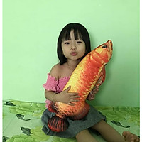 Gối Ôm Cá Rồng 3D Nhồi Bông Dài 60cm Quà Tặng Bé