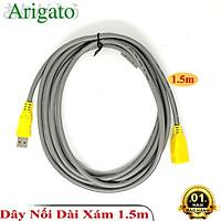 Dây nối dài USB 2.0 1.5m 3m 5m 10m Arigato cáp nối dài chống nhiễu 2 đầu siêu bền- Hàng Chính Hãng
