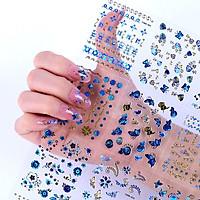 Set 24 tấm decal dán móng 3D làm nail tại nhà cực xinh