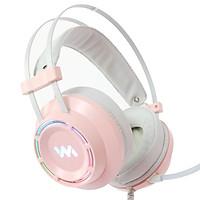 Tai nghe gaming WangMing WM9800 giả lập âm thanh vòm 7.1 kết nối USB - Hàng chính hãng (Màu hồng)