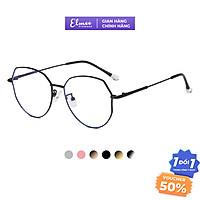 Gọng kính cận kim loại đa giác Elmee kiểu dáng thanh mảnh thời trang thiết kế tối giản nhiều màu E2968