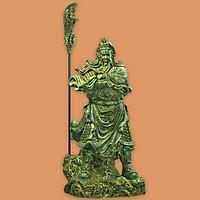 Tượng Quan Công đứng khoanh tay to - QC018