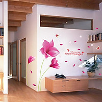 Decal dán tường Hoa cánh bướm AmyShop (150 x 200 cm)