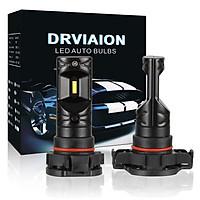 2PCS 5202/H16 80W 6500K LED Fog Light Bulbs High Power Headlight Bulb