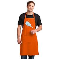 Tạp Dề Làm Bếp In Hình Cá voi - DV004 – Màu Cam