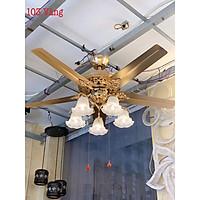 Đèn quạt trần Vàng động cơ DC 2 chiều gió  sang trọng hiện đại trang trí nội thất phòng khách, phòng ngủ