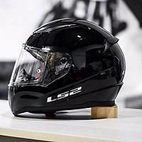 Mũ Bảo Hiểm FullFace LS2 FF353 SOLID GLOSS BLACK