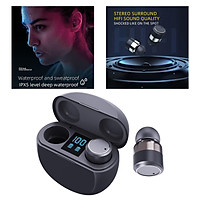 T18 Bluetooth 5.1 Wireless Earbuds with Wireless Charging Case TWS Stereo Headphones in Ear Built in Mic Headset with Deep Bass for Sport