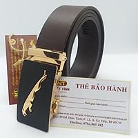 Thắt lưng nam da bò thật nguyên tấm cao cấp, dây da  bản 3.5 cm chính hãng Nhất Tính Leather N092 bảo hành 05 năm về da
