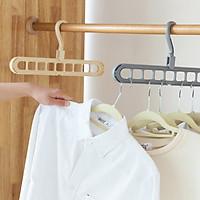 Móc treo đồ, móc treo quần áo 9 lỗ tiện dụng, đa năng giúp tiết kiệm tối đa diện tích tủ, dây phơi ( GIAO MÀU NGẪU NHIÊN)