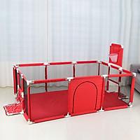 Nhà banh cho bé khung inox chắc chắn - Quây bóng quây cũi  trẻ em - Tặng kèm 100 bóng nhựa