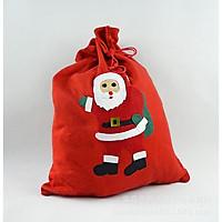Túi đựng quà ông già Noel vải nỉ Giáng sinh (Giao ngẫu nhiên)