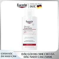 Dầu Gội Dịu Nhẹ Cho Da Đầu Nhạy Cảm Eucerin Dermo Capillaire pH5 Mild Shampoo 250ml