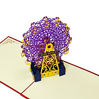 Thiệp 3D Kiến Trúc - Sun Wheel - Vòng xoay mặt trời - L95