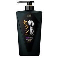 Gel tắm nước hoa nam Hasi Kokeshi quyến rũ và lịch lãm - Sexy Man Body Wash