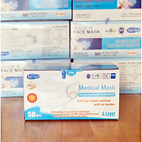 Khẩu trang y tế Kim Sora 4 lớp tiêu chuẩn Nhật Bản màu trắng hộp 50 chiếc