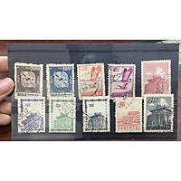 Bộ Tem Sưu Tầm Đài Loan Xưa - 10 Con Stamps + Tặng Kèm Folder Đựng Tem