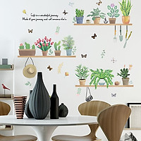 Decal dán tường trang trí phòng khách, quán cafe- Kệ máy ảnh- mã sp DXL7249