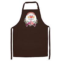 Tạp Dề Làm Bếp In Hình Love Mom - ACNTU009 – Màu Nâu