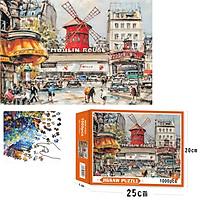 Bộ Tranh Ghép Xếp Hình 1000 Pcs Jigsaw Puzzle (Tranh ghép 70*50cm) Moulin Rouge  Bản Thú Vị Cao Cấp
