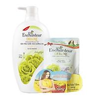 Sữa tắm nước hoa Enchanteur Delightful 650g tặng túi sữa tắm Delightful 200g