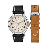 Đồng hồ Nam Timex Weekender 2-Piece Leather Strap Watch Gift Set - TWG019300 (40mm)