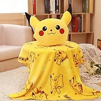 Bộ chăn gối văn phòng 3 chức năng hình Pokemon Pikachu