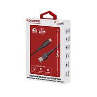 Cáp Sạc Promate FlexLink-CA2 Cổng USB Type-C 2m - Đen - Hàng Chính Hãng