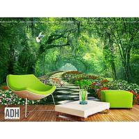 Tranh dán tường con đường hoa trong rừng ADH181226-31