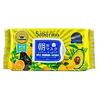 Mặt Nạ Dưỡng Ẩm Buổi Sáng Hương Trái Cây Saborino Morning Facial Sheet Mask 304g (Gói 32 Miếng)
