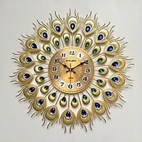 Đồng hồ treo tường hàng Việt Nam trang trí đẹp kích thước 48x48cm D2106