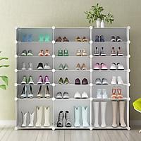 Tủ giày lắp ghép 18 ô có 3 ô lớn