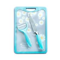 Bộ dao thớt hoa 3 món Delaware - 007115