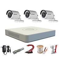 Trọn bộ 3 camera HIKVISION 2.0MP - Hàng chính hãng lắp đặt miễn phí tại TP.HCM