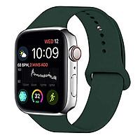 Dây đeo đồng hồ dành cho Apple Watch Series 1,2,3,4,5 chất liệu Silicon cao cấp màu xanh đậm (38/40mm và 42/44mm) - Hàng chính hãng