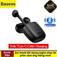 Tai Nghe Nhét Tai Không Dây Bluetooth 5.0 TWS Encok W04 / W04 Pro Âm Thanh Hifi Stereo Cảm Ứng Thông Minh Kết Nội-Hàng Chính Hãng Baseus
