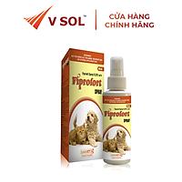 Dung dịch phun xịt diệt bọ chét, trứng bọ chét, con bét, con ve, rận chấy ở chó mèo Fiprofort Spray 100ml