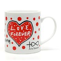 Cốc  sứ uống trà cà phê in hình chữ Love đáng yêu - Cốc quà tặng