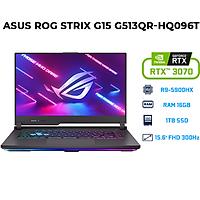 Laptop Asus ROG Strix G15 G513QR-HQ096T (AMD R9-5900HX/ 16GB (8x2) DDR4 3200MHz/ 1TB SSD PCIE G3X4/ RTX 3070 8GB GDDR6/ 15.6 FHD, IPS Non-Glare, 300Hz/3ms/ Win10) - Hàng Chính Hãng