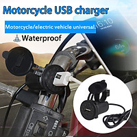 Waterproof 9-24V Motorcycle Mobile Phone USB Charger 2.1A Power Adapter Socket