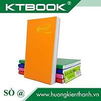 Gói 5 cuốn Sổ tay ghi chép Bìa Da Mềm Cao Cấp nhiều Màu kích thước A6 mã 200 giấy ruột caro - 150 trang